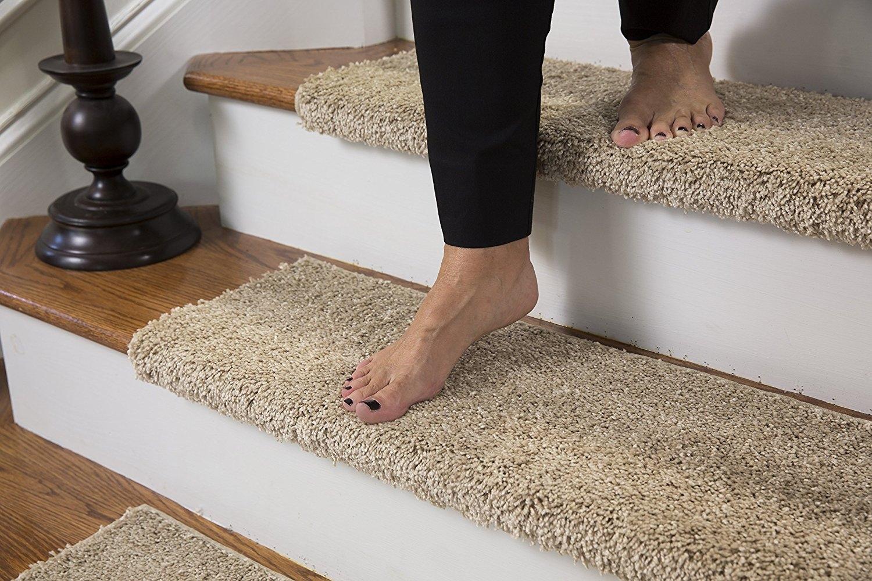 Amazon Caprice Bullnose Carpet Stair Tread With Adhesive Regarding Stair Tread Carpet Adhesive (#3 of 20)