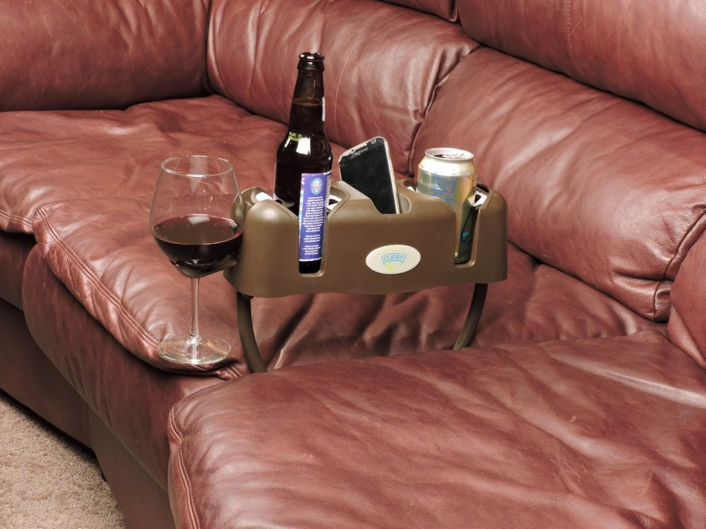 Amazon Cupsy Sofa And Couch Armchair Drink Organizer And Regarding Sofa Drink Tables (#5 of 15)