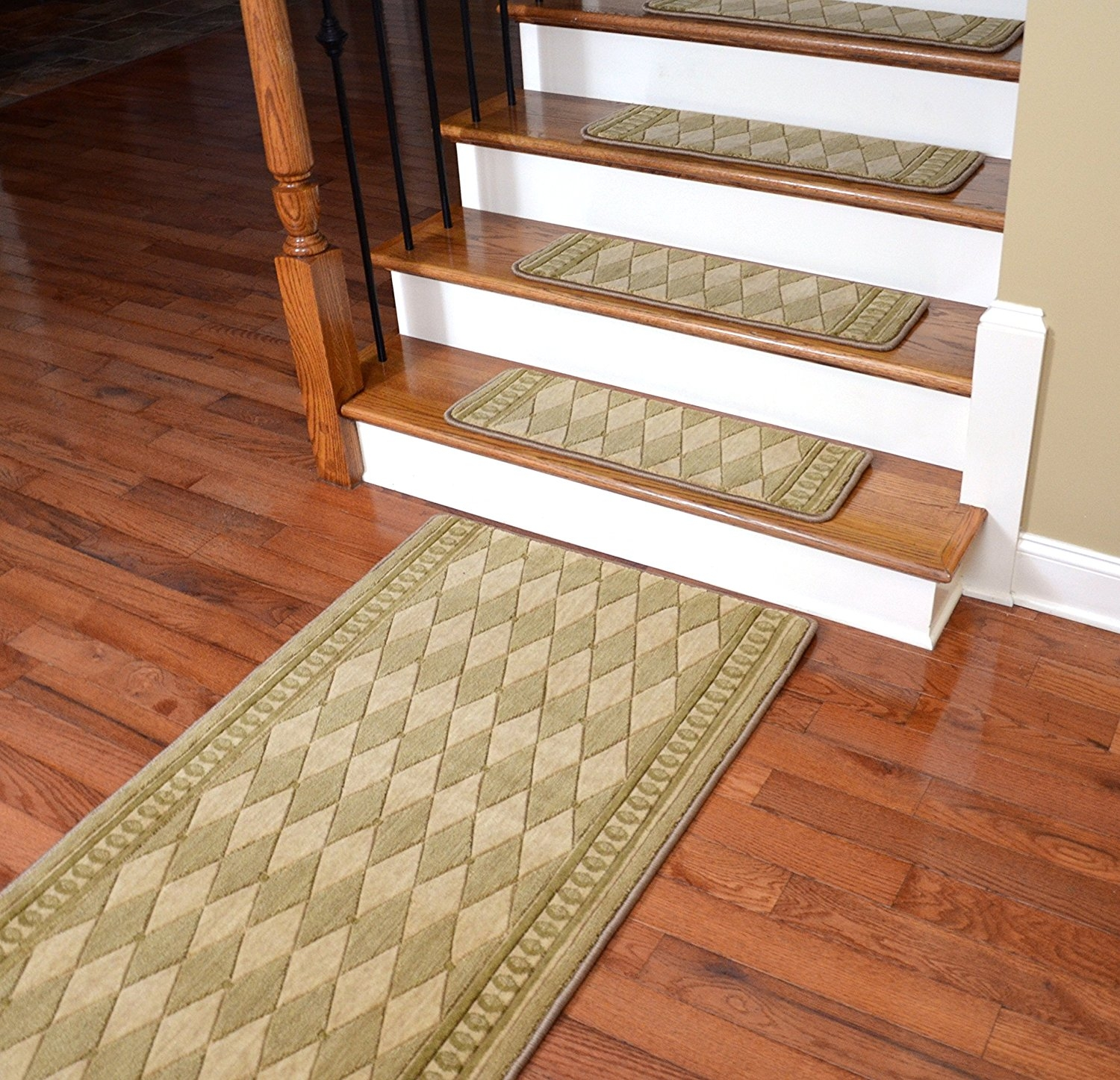 Inspiration About Amazon Dean Premium Nz Wool Non Slip Carpet Stair Treads  Throughout Wool Stair Rug