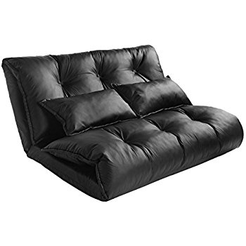 Amazon Merax Pu Leather Adjustable Floor Sofa Bed Lounge Sofa Throughout Sofa Lounger Beds (#5 of 15)