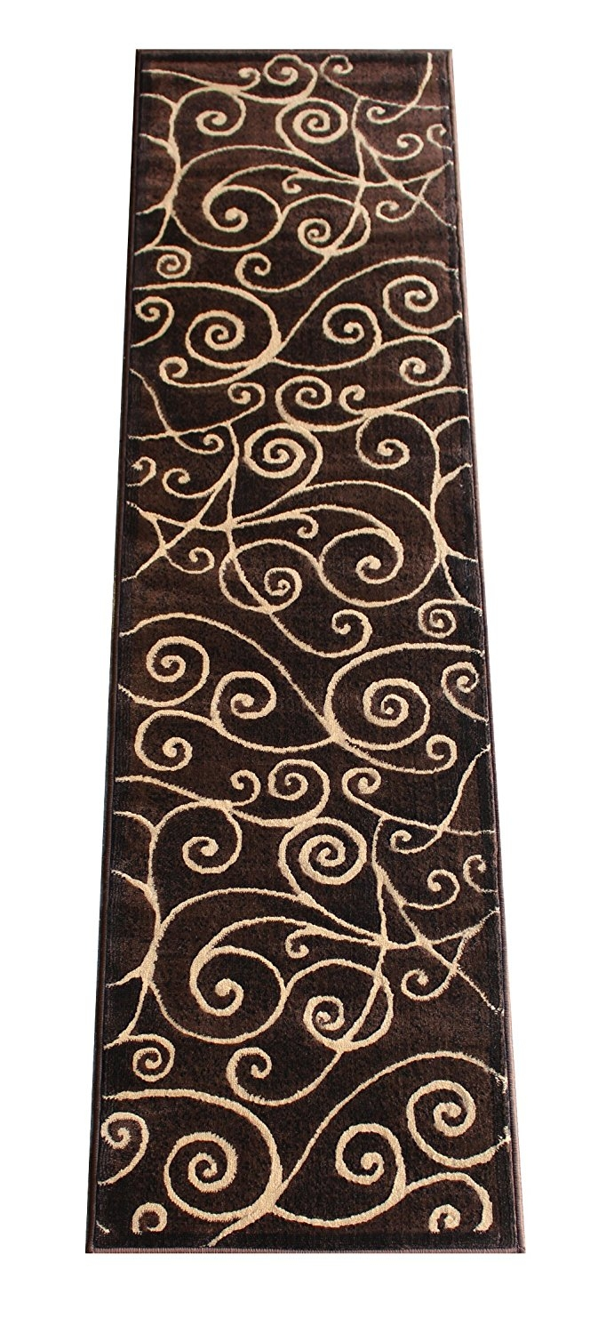 Amazon Modern Rug Runner 2 Ft X 7 Ft Chocolate G 23 For Modern Hallway Runners (#2 of 20)