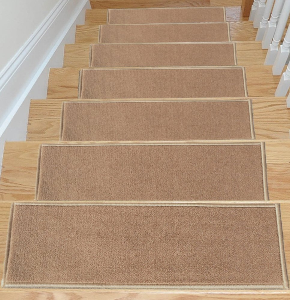 Amazon Ottomanson Skid Resistant Rubber Backing Non Slip Intended For Rubber Backed Stair Tread Rugs (View 8 of 20)