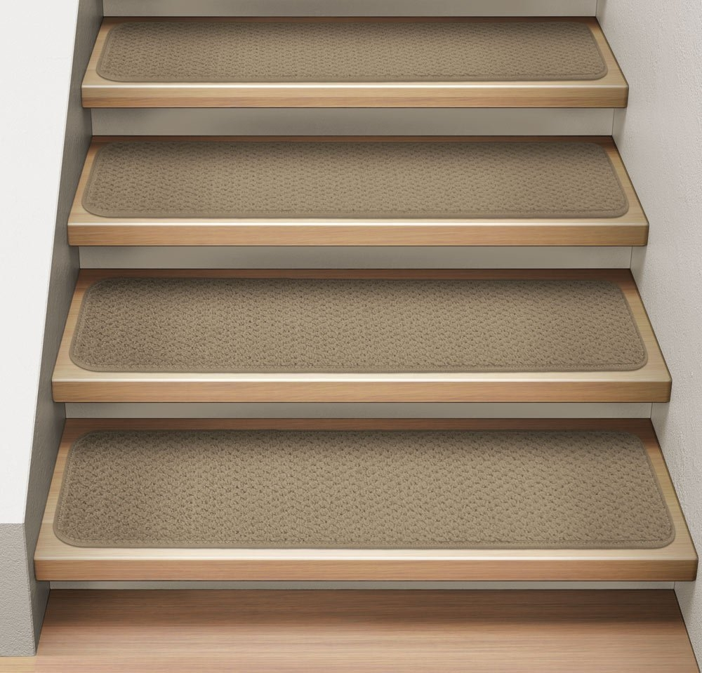 Amazon Set Of 12 Attachable Indoor Carpet Stair Treads In 8 Inch Stair Treads (View 7 of 20)