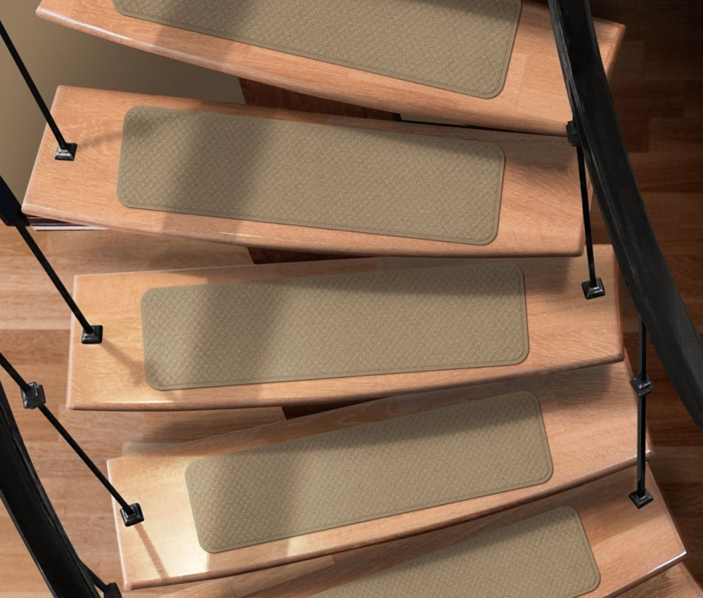 Amazon Set Of 12 Attachable Indoor Carpet Stair Treads Regarding Adhesive Carpet Stair Treads (View 16 of 20)