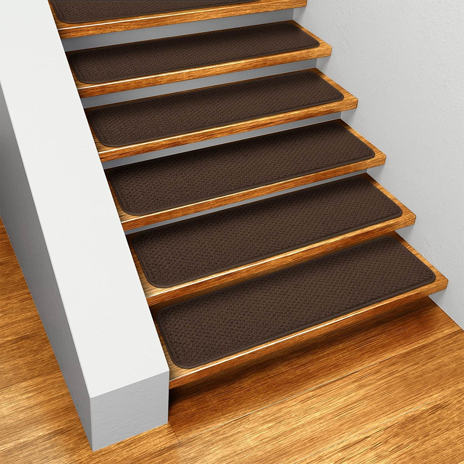Amazon Set Of 12 Skid Resistant Carpet Stair Treads With Regard To Carpet Strips For Stairs (#7 of 20)