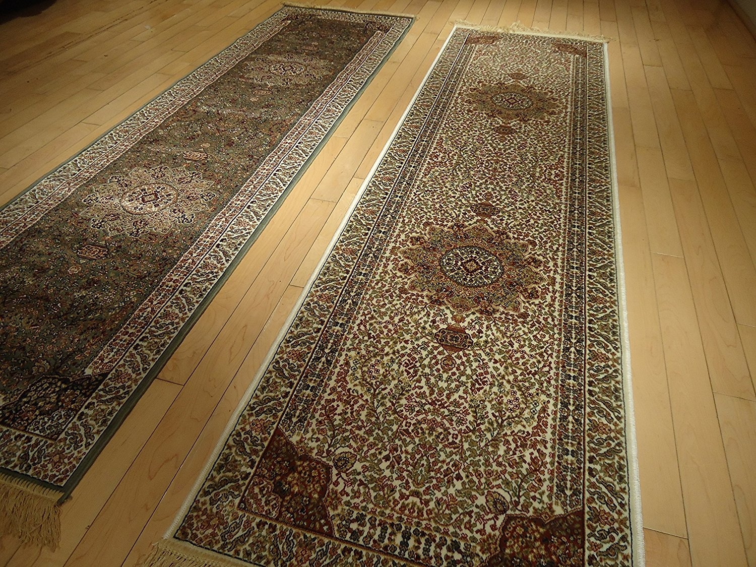 Amazon Silk Cream Rug Persian Tabriz Rugs Long 2×12 Hallway Throughout Hallway Runner Rugs (View 8 of 20)