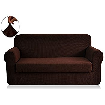 Amazon Sure Fit Stretch Pique T Cushion Three Piece Sofa With 2 Piece Sofa Covers (#6 of 15)
