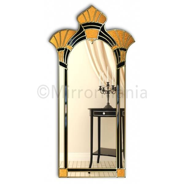 Amelia Original Handcrafted Art Deco Full Length Wall Mirror Pertaining To Art Deco Full Length Mirrors (#4 of 20)
