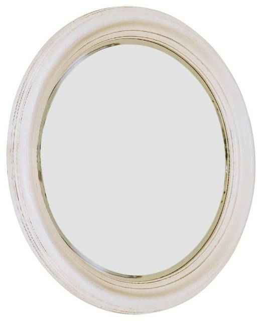 American Drew Camden Light Round Mirror In White Painted Regarding White Round Mirrors (#10 of 30)