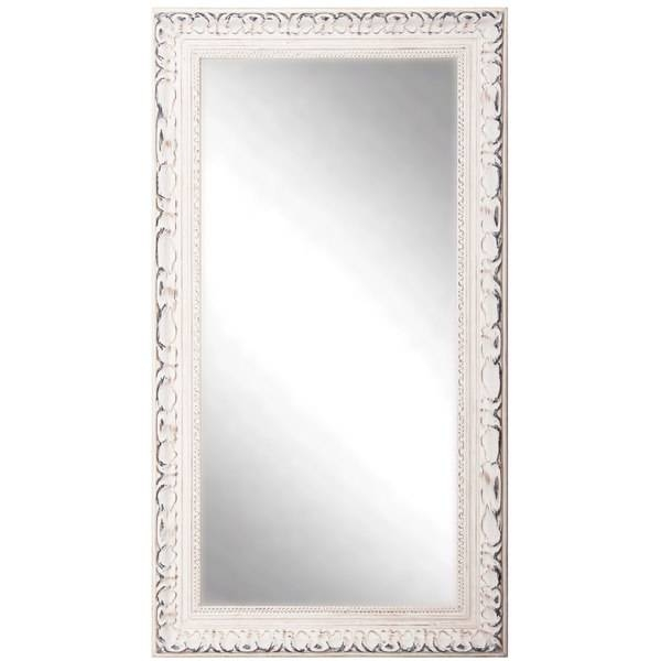 American Made Rayne Distressed French Victorian White Full Length Throughout Victorian Full Length Mirrors (#5 of 20)
