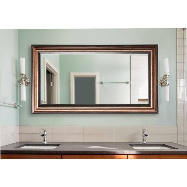 American Made Rayne Extra Large Canyon Bronze Wall Mirror – Free Throughout Bronze Wall Mirrors (#3 of 20)