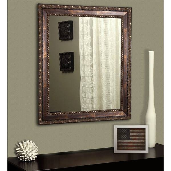 American Made Rayne Traditional Roman Copper Bronze Wall/ Vanity Regarding Bronze Wall Mirrors (#4 of 20)