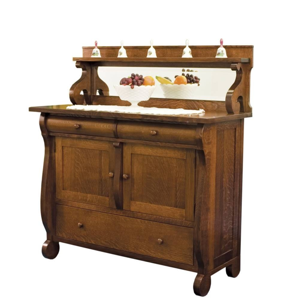 Amish Dining Room Sideboards Buffet Storage Cabinet Wood Antique With Buffets And Sideboards Cabinet (#1 of 20)