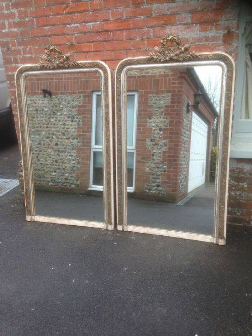 An Absolutely Stunning And Highly Unusual Pair Of Large Antique For Unusual Large Mirrors (#7 of 20)