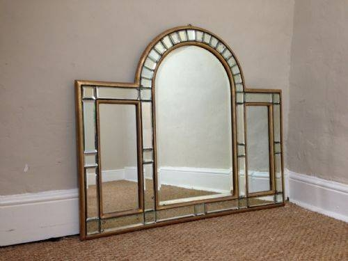 An Art Deco Arched Overmantle Mirror C 1920 | 220841 For Over Mantle Mirrors (#3 of 30)