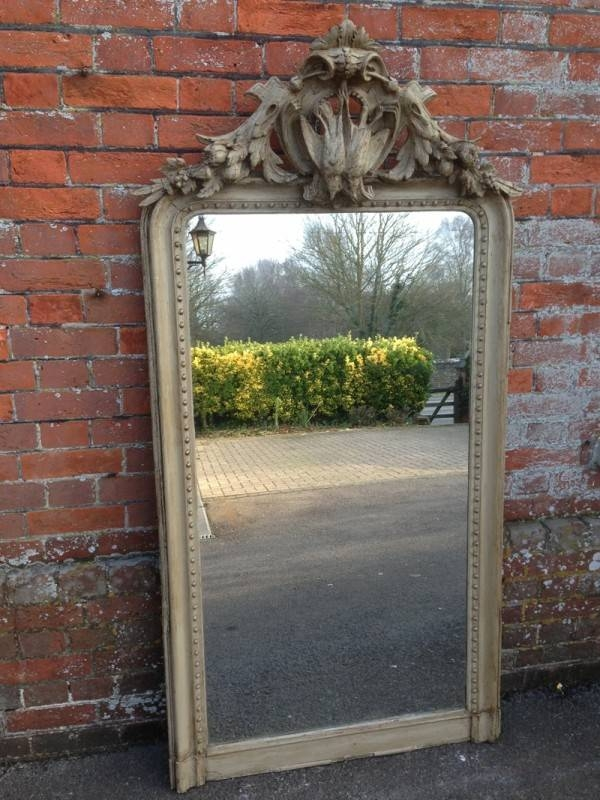 An Early Antique French Decorative Game Wall Mirror (#10 of 20)