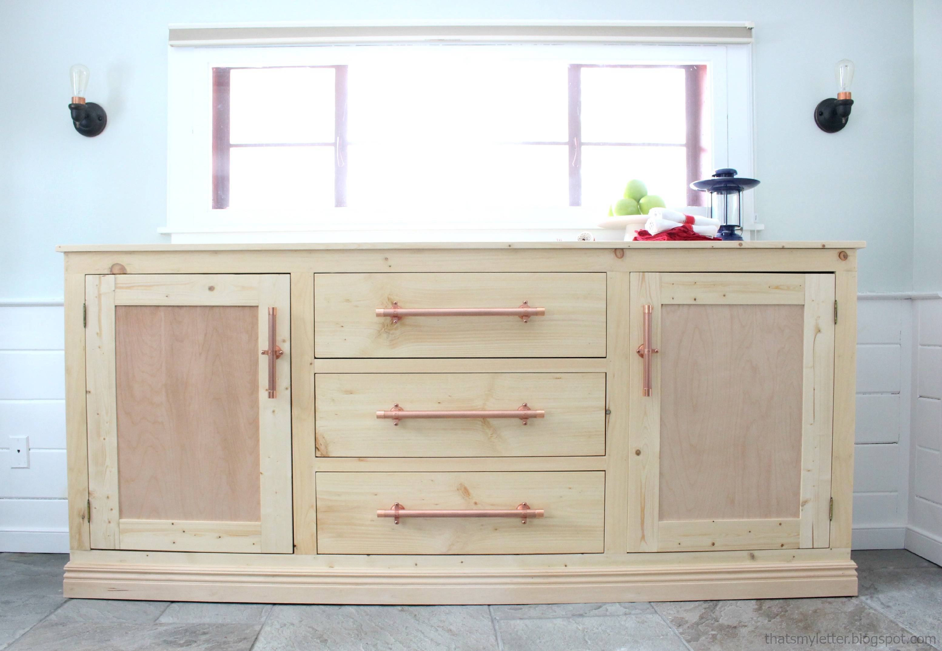 Ana White | Extra Long Buffet Cabinet – Diy Projects Regarding Kitchen Sideboards White (View 9 of 20)
