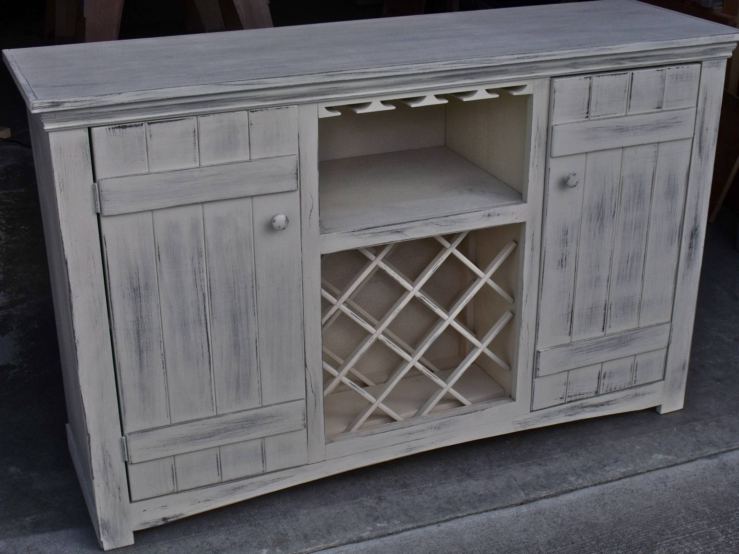 Ana White | Farmhouse Wine Buffet – Diy Projects Regarding White Sideboard With Wine Rack (View 1 of 20)