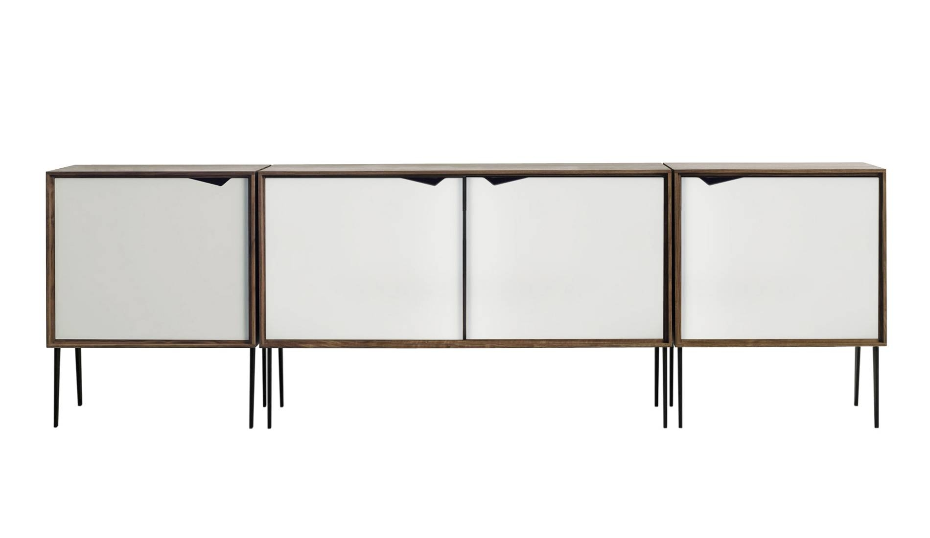 Andersen S2 Walnut / White Sideboard | Dopo Domani Pertaining To Walnut And Black Sideboard (#3 of 20)