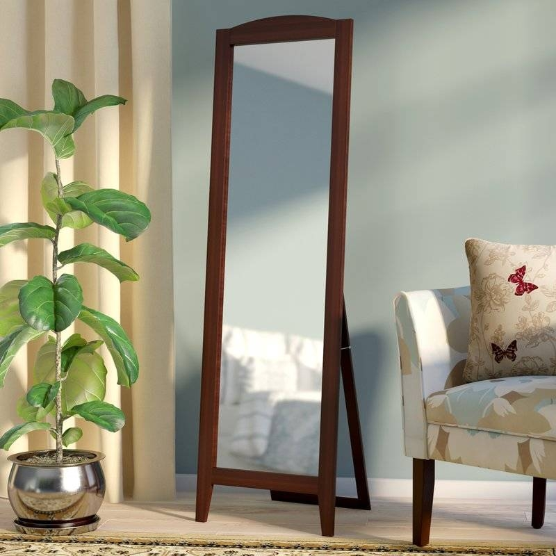 Andover Mills Standing Full Length Mirror & Reviews | Wayfair Inside Standing Dressing Mirrors (#4 of 30)