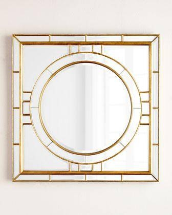Andrew Design Square Beveled Mirror In Gold With Regard To Square Gold Mirrors (#7 of 20)