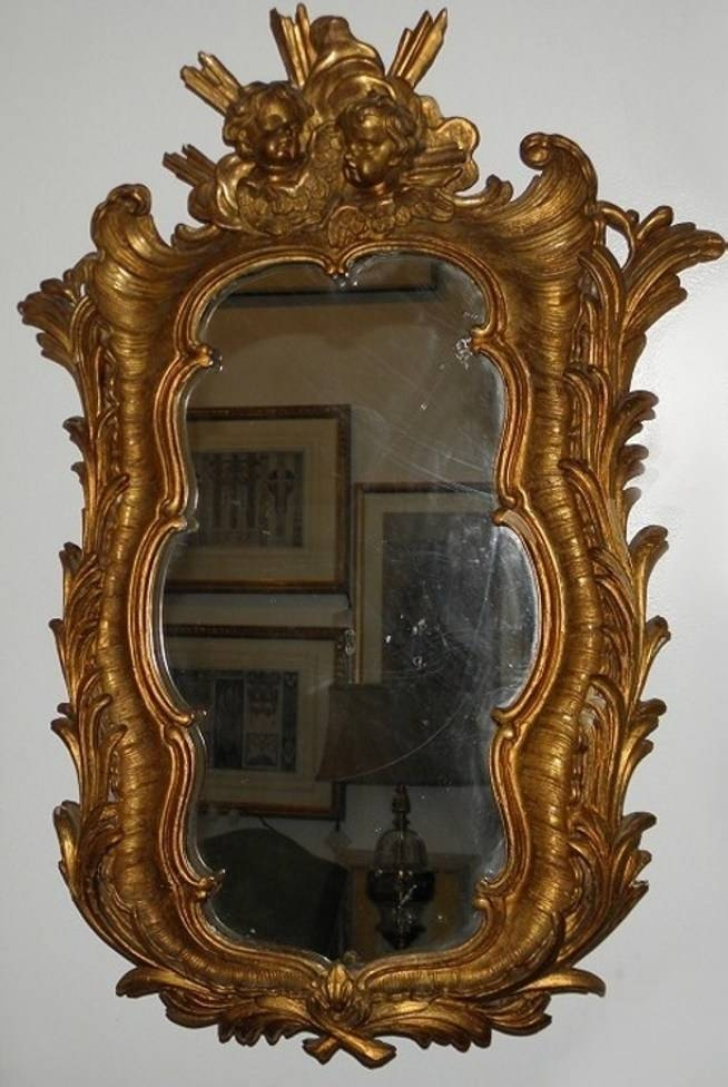 Antique 18C French Rococo Gilt Wood Mirror From Randy Esadas With French Rococo Mirrors (#5 of 15)