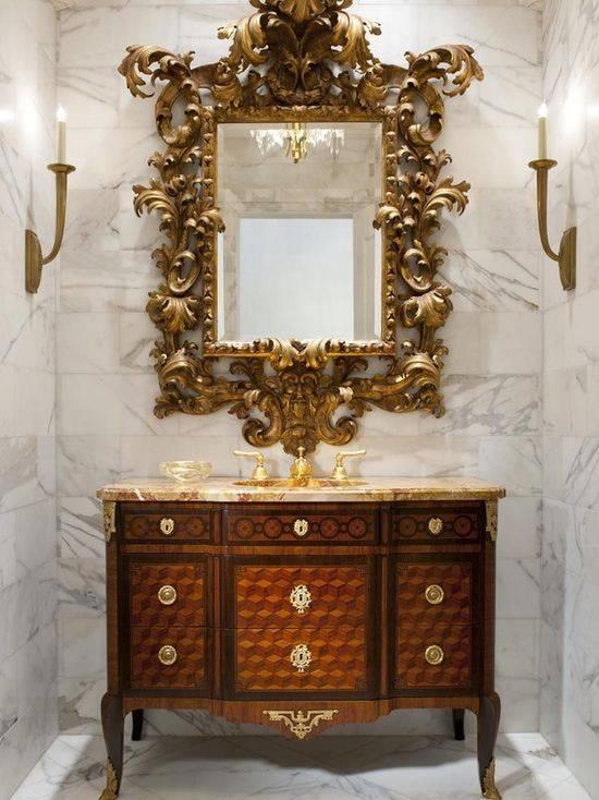 Antique Bathroom Mirror | Houzz In Antique Bathroom Mirrors (#1 of 20)