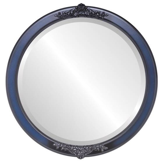 Antique Blue Round Mirrors From $117 | Free Shipping With Blue Round Mirrors (#10 of 30)