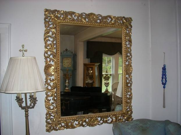 Antique Carved Gold Mirrors Throughout Antique Looking Mirrors (#3 of 20)