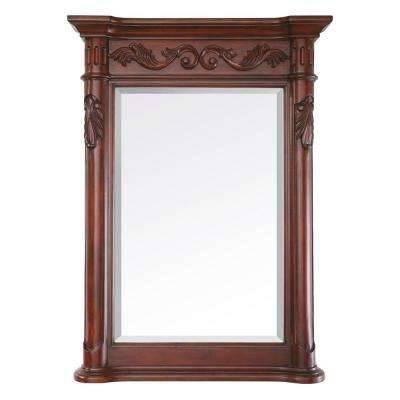 Antique Cherry – Bathroom Mirrors – Bath – The Home Depot Throughout Antique Bathroom Mirrors (#3 of 20)