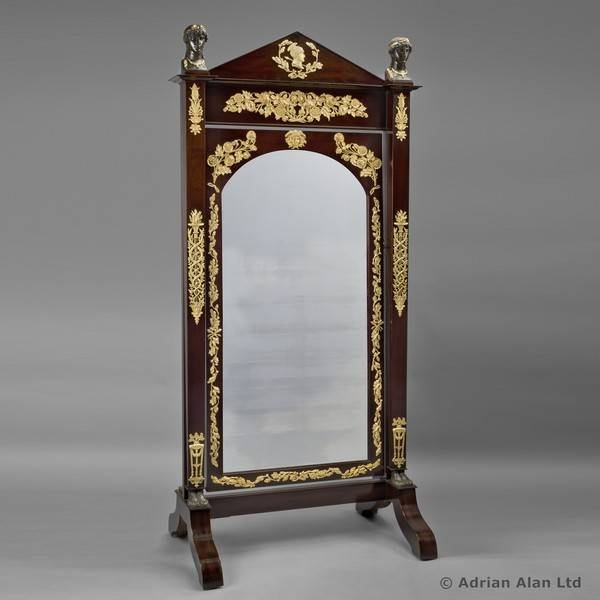 Antique Cheval Mirrors – The Uk's Premier Antiques Portal – Online Regarding Cheval Freestanding Mirrors (#9 of 30)