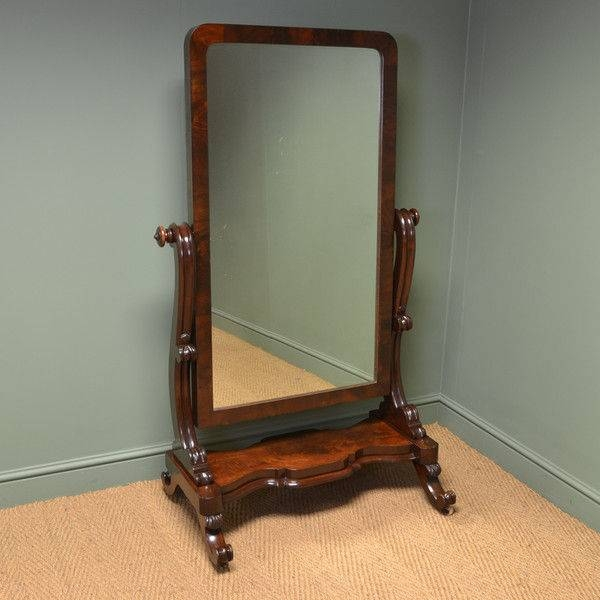 Antique Cheval Mirrors – The Uk's Premier Antiques Portal – Online With Regard To Victorian Full Length Mirrors (#6 of 20)