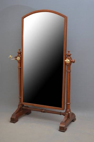 Antique Cheval Mirrors – The Uk's Premier Antiques Portal – Online With Regard To Victorian Standing Mirrors (View 4 of 30)