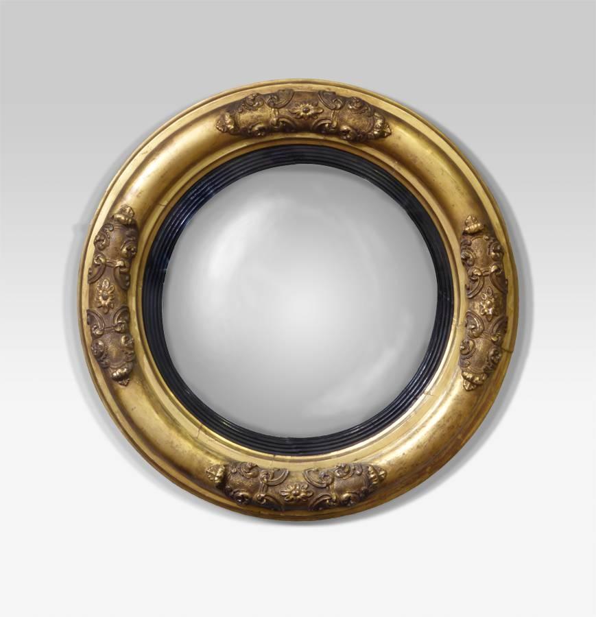 Antique Convex Mirror, Round Antique Mirror : Antique Wall Mirror Pertaining To Round Antique Mirrors (View 7 of 30)