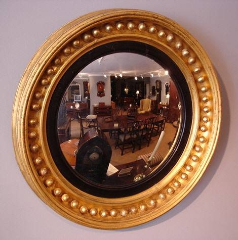 Antique Convex Wall Mirror : Antique Wall Mirror – Convex Wall Inside Convex Wall Mirrors (#3 of 30)