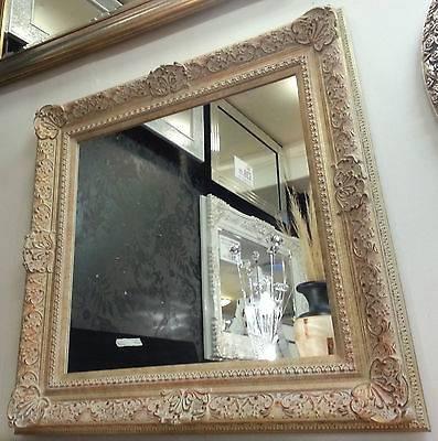 Antique Cream/gold Ornate Vintage Design French Wall Mirror For Antique Cream Wall Mirrors (View 7 of 20)