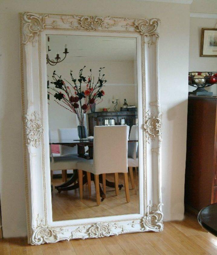 Antique Design Ornate Ivory Wall Mirror | French Mirror Company With Regard To Full Length French Mirrors (#8 of 20)