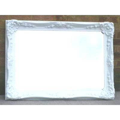 Antique French Floor Mirrorfrench Style Mirror With Shelf Wall For Large White French Mirrors (#12 of 30)