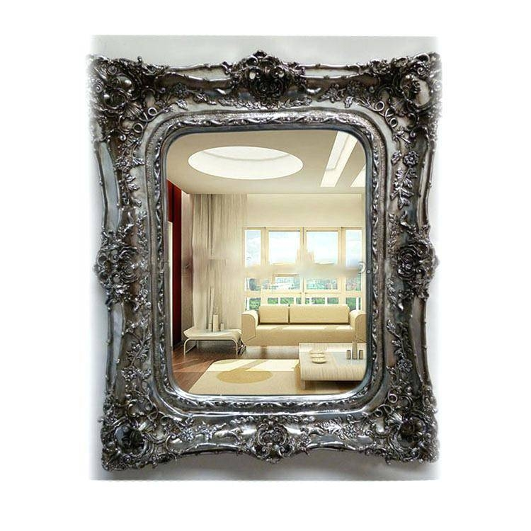 Antique French Floor Mirrorfrench Style Mirror With Shelf Wall With French Style Wall Mirrors (#11 of 30)