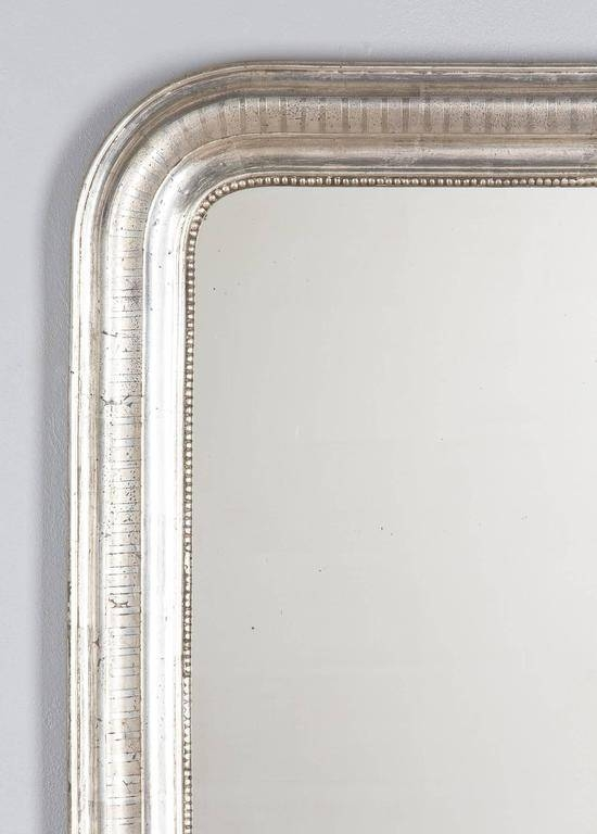 Antique French Louis Philippe Silver Gilt Mirror, 19Th Century At For Silver Gilt Mirrors (#4 of 20)