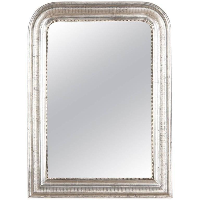 Antique French Louis Philippe Silver Gilt Mirror, 19Th Century At For Silver Gilt Mirrors (#3 of 20)