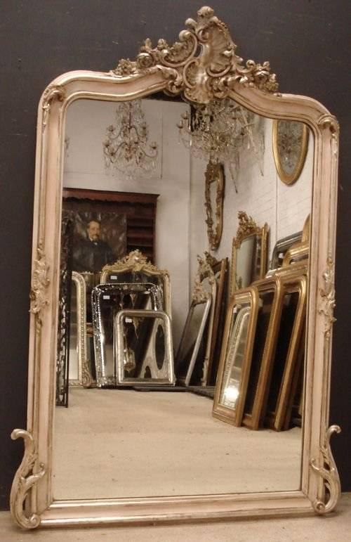 Antique French Mirror | 163044 | Sellingantiques.co (View 7 of 20)