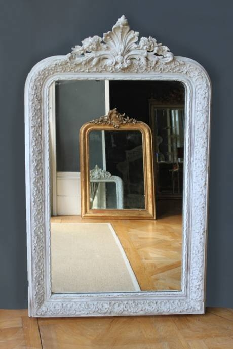 Antique French Painted Mirrormint List 9 | Themintlist For French White Mirrors (#6 of 15)