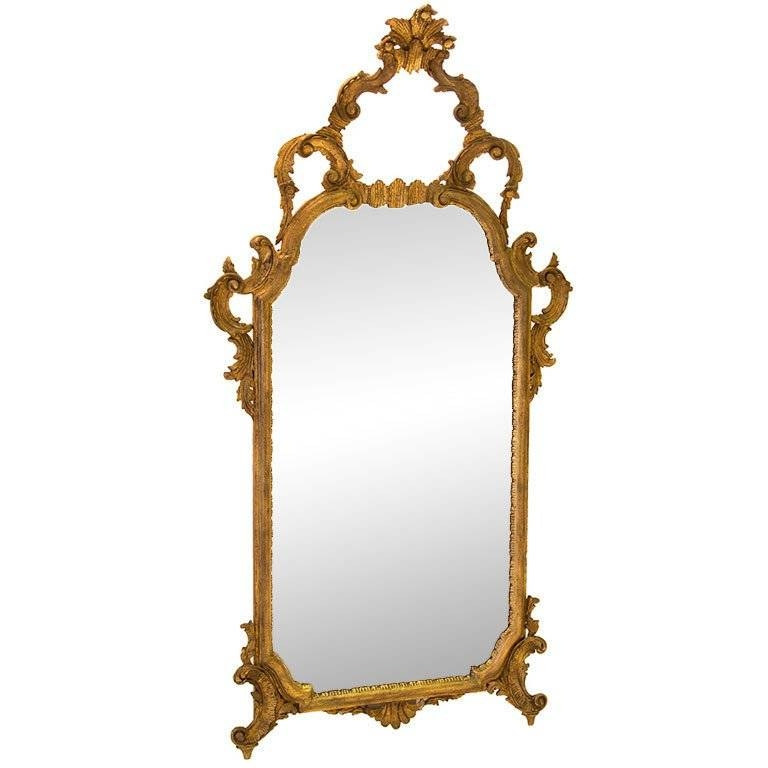 Antique French Rococo Gold Gilt Mirror For Sale At 1Stdibs Pertaining To Gold Gilt Mirrors (#7 of 20)