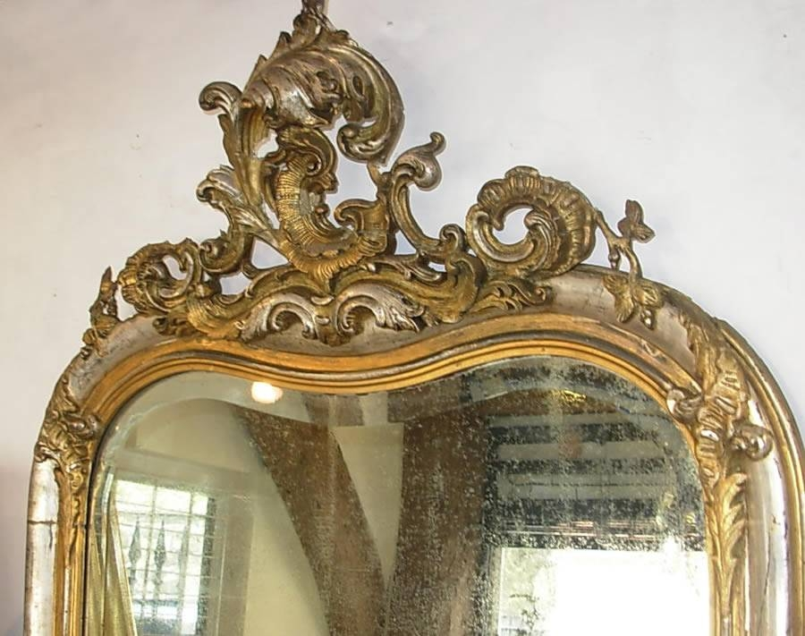 Antique French Silver Gilt Mirror – Antique Mirrors Inside Silver Gilded Mirrors (#18 of 30)