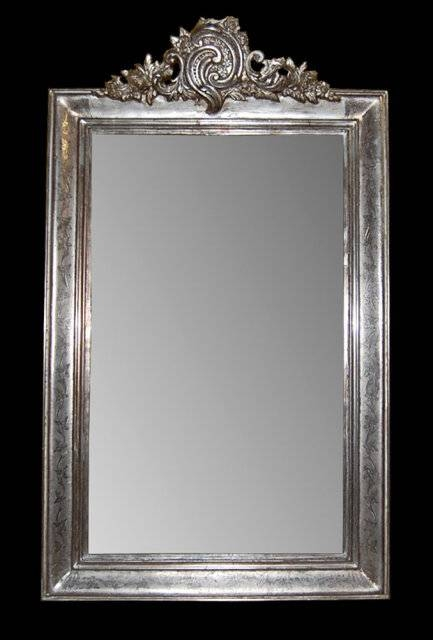 Inspiration about Antique French Silver Leaf Mirror For Sale | Antiques Throughout Silver Antique Mirrors (#3 of 20)