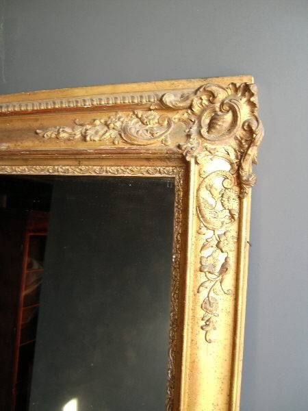 Antique Furniture Warehouse – Antique Gilt Mirror – Large 19Th Intended For Antique Gilt Mirrors (#4 of 20)