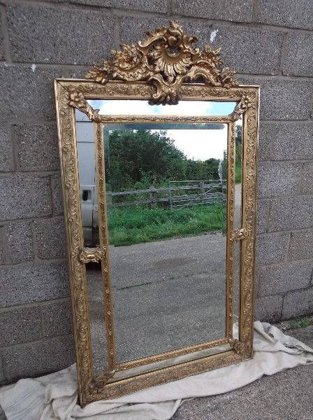 Antique Furniture Warehouse – Large Antique Mirror – 6Ft Tall Regarding Large Antique Mirrors (#8 of 30)