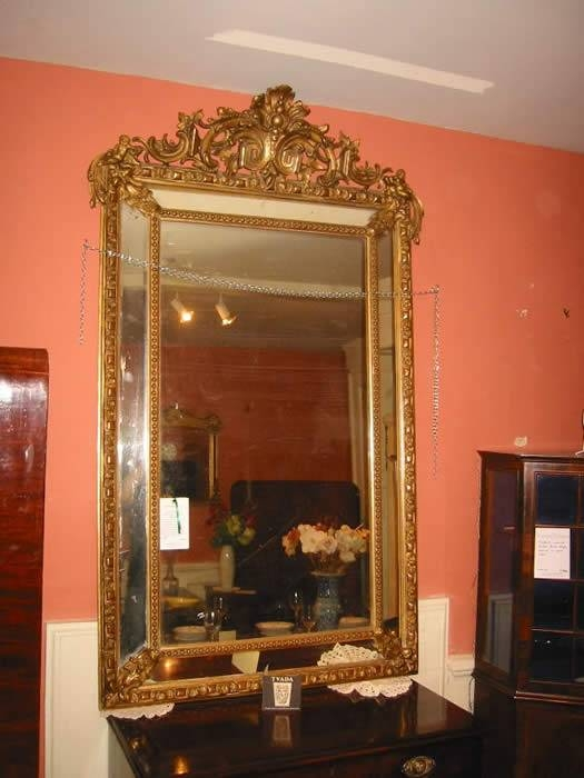 Antique Furniture Warehouse – Large Antique Mirror – Large 19Th In Huge Antique Mirrors (#3 of 15)
