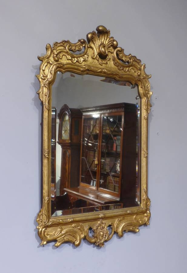 Antique Gilt Mirror : Antique Wall Mirror – Convex Wall Mirror In Antique Gilt Mirrors (#5 of 20)